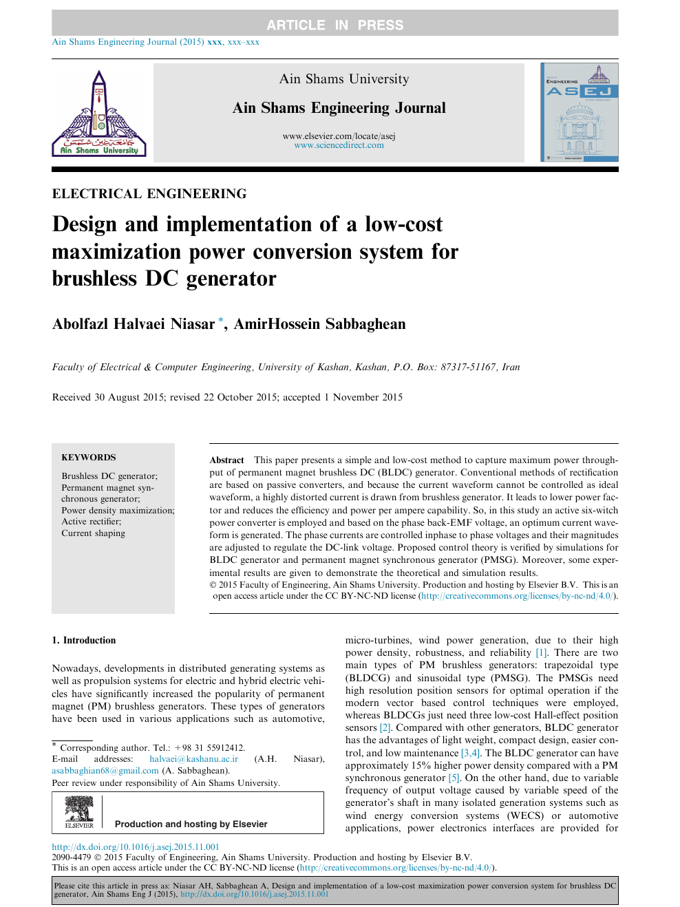 Design and implementation of a low-cost maximization power