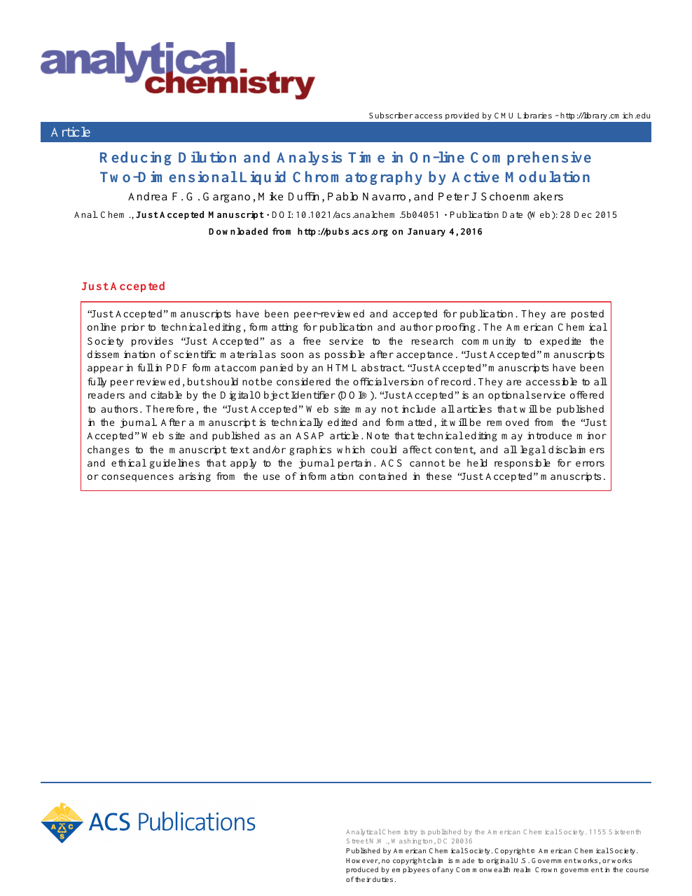 Reducing Dilution and Analysis Time in Online Comprehensive