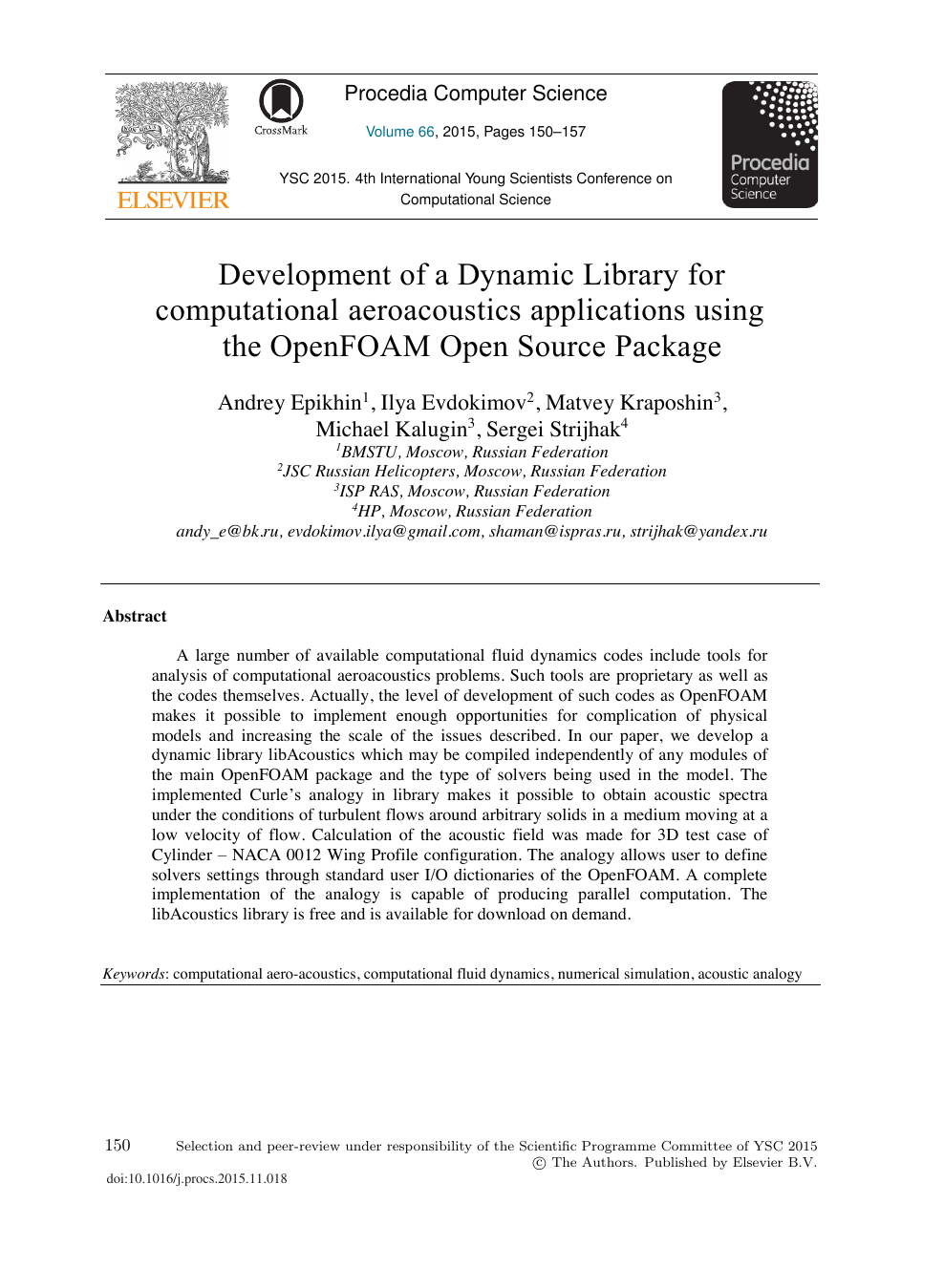 Development of a Dynamic Library for Computational