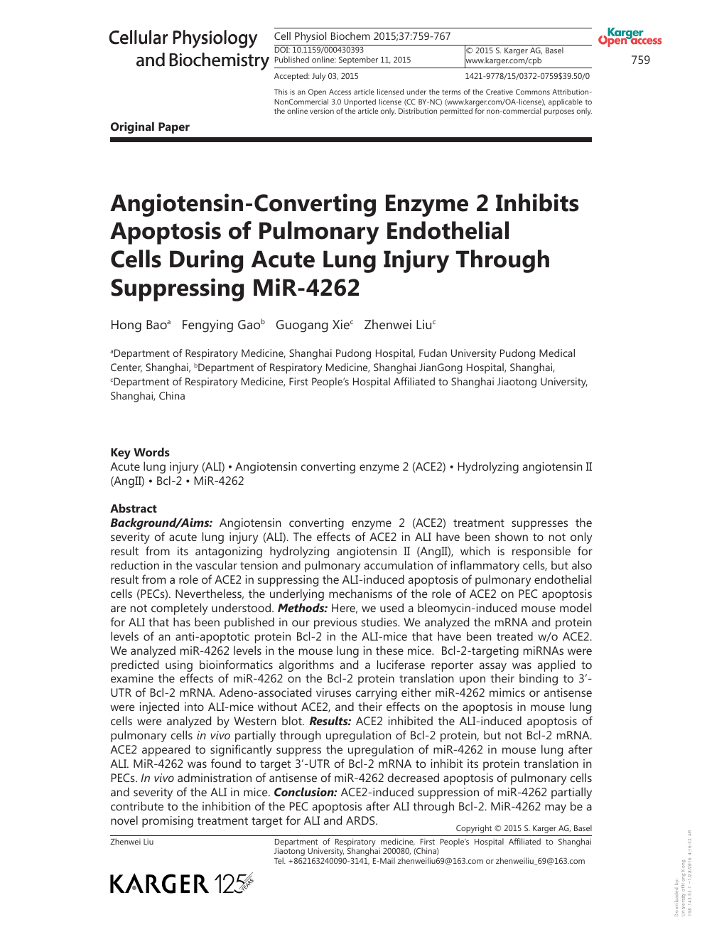 Angiotensin-Converting Enzyme 2 Inhibits Apoptosis of