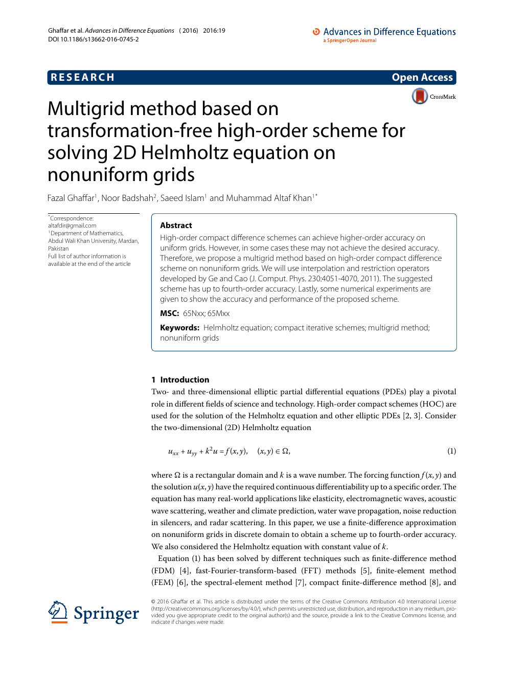 Multigrid method based on transformation-free high-order