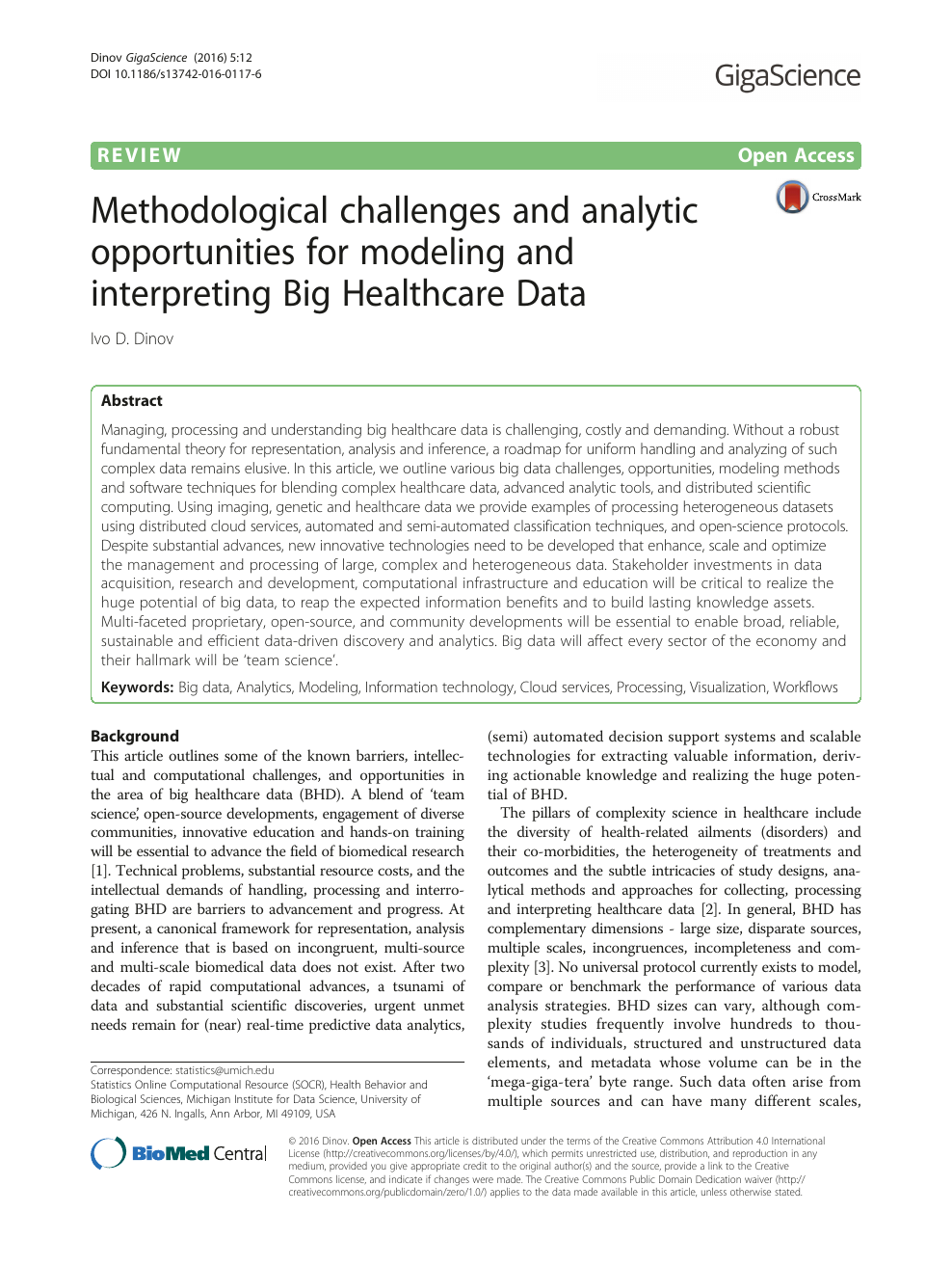 Methodological challenges and analytic opportunities for