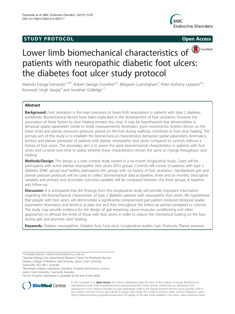 Lower limb biomechanical characteristics of patients with