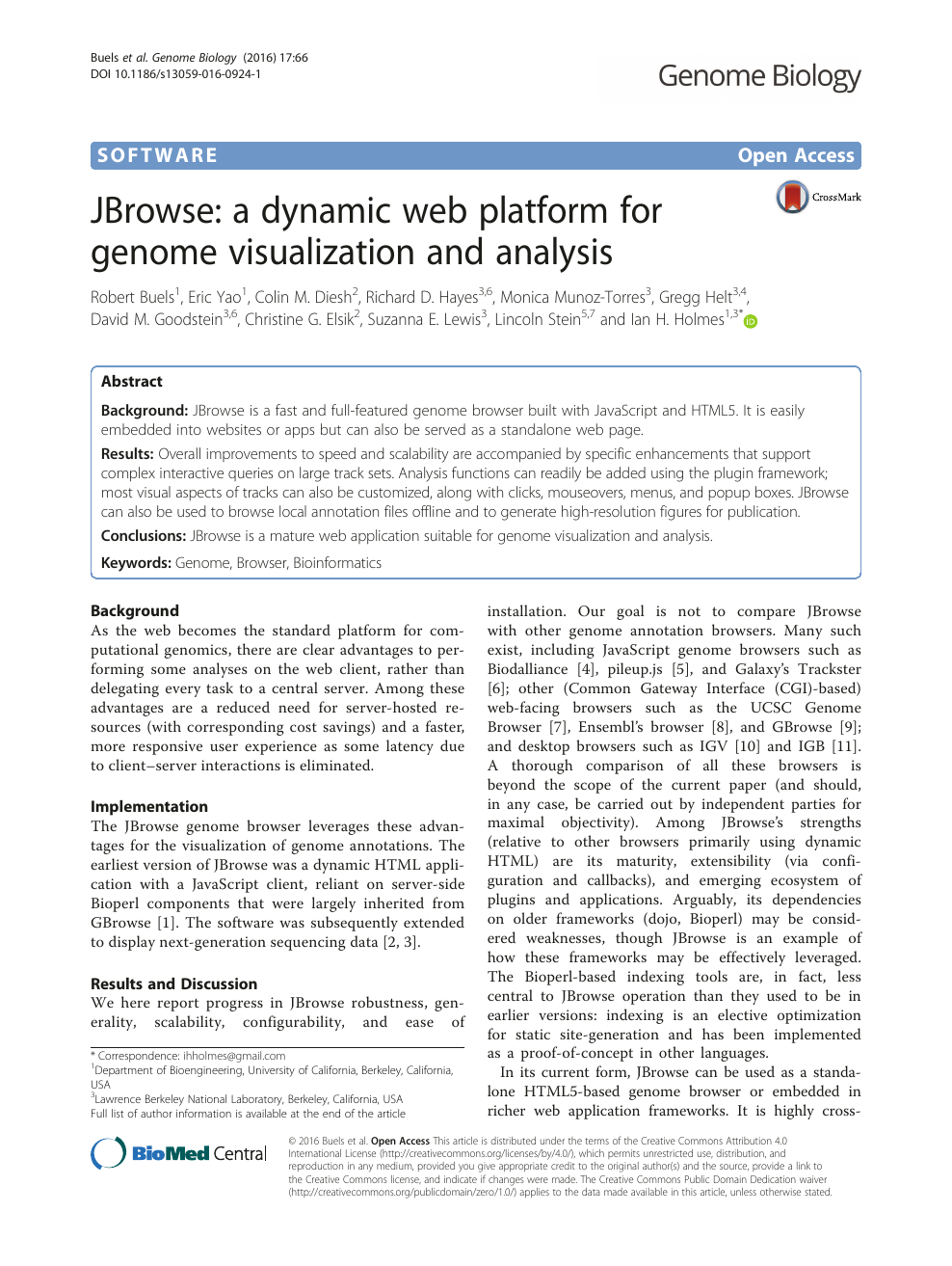 JBrowse: a dynamic web platform for genome visualization and