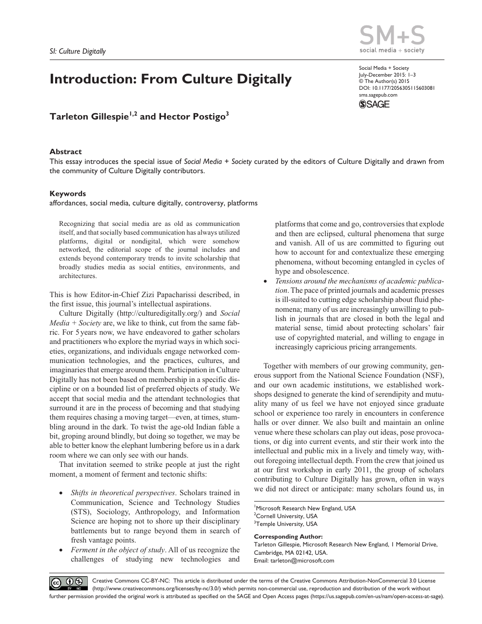 introduction from culture digitally  topic of research paper in  read paper