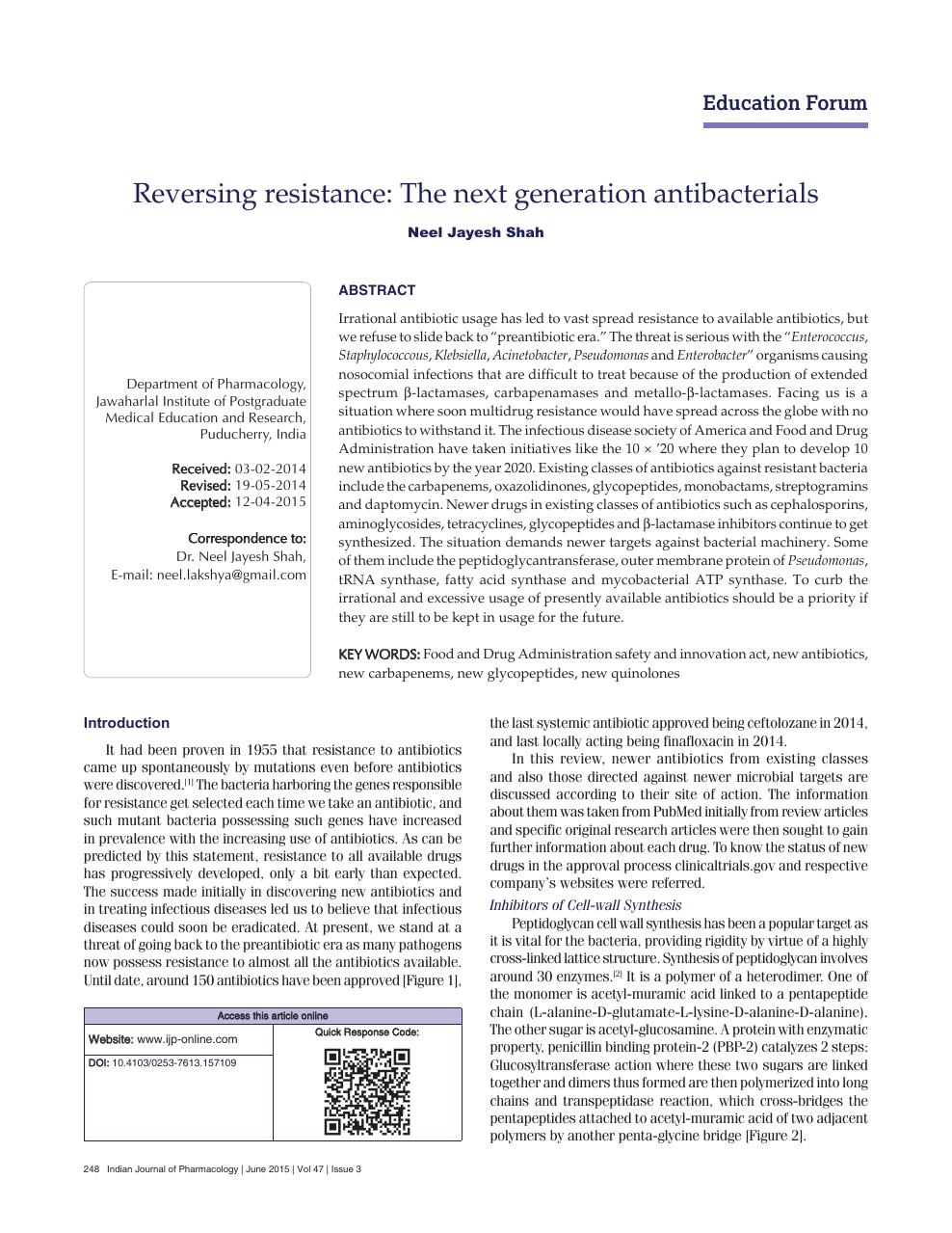 how to reverse antibiotic resistance