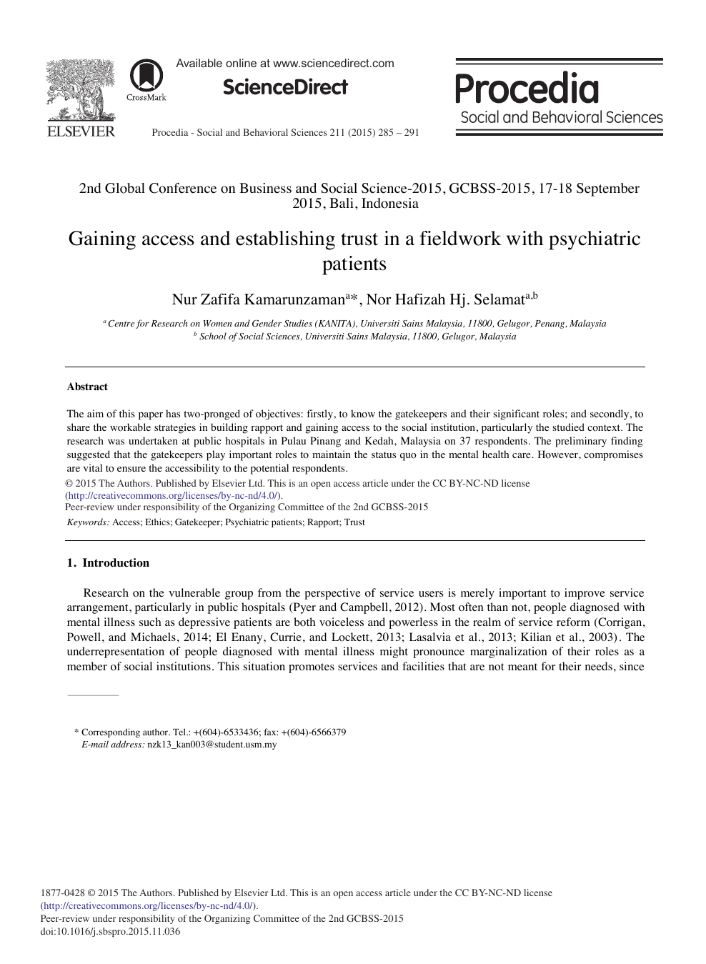 Gaining Access And Establishing Trust In A Fieldwork With Psychiatric Patients Topic Of Research Paper In Economics And Business Download Scholarly Article Pdf And Read For Free On Cyberleninka Open Science