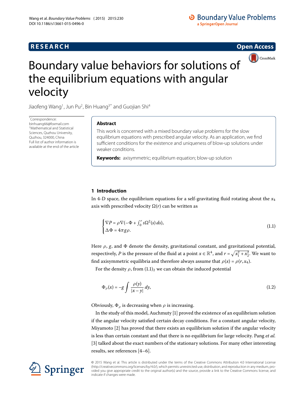 Boundary value behaviors for solutions of the equilibrium