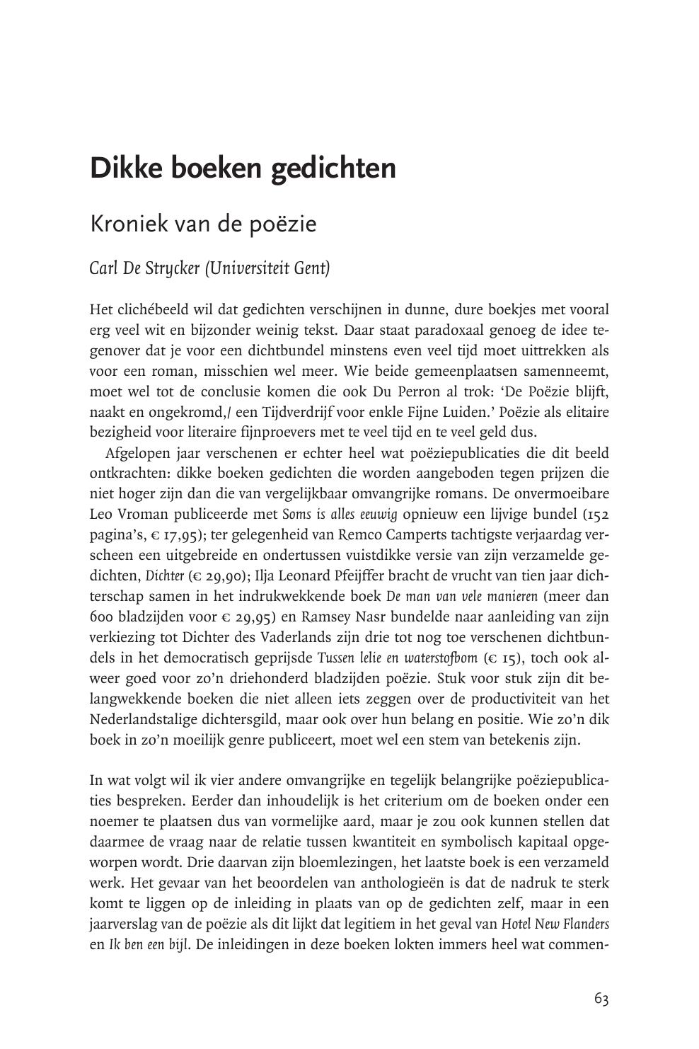Dikke Boeken Gedichten Kroniek Van De Poëzie Topic Of