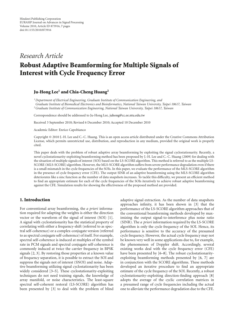 Robust Adaptive Beamforming for Multiple Signals of Interest