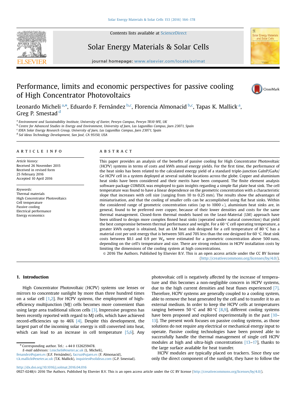 Performance, limits and economic perspectives for passive cooling of