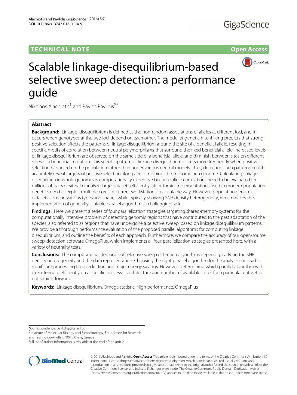 Scalable linkage-disequilibrium-based selective sweep