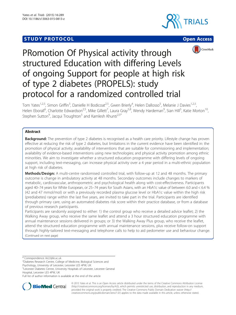 PRomotion Of Physical activity through structured Education
