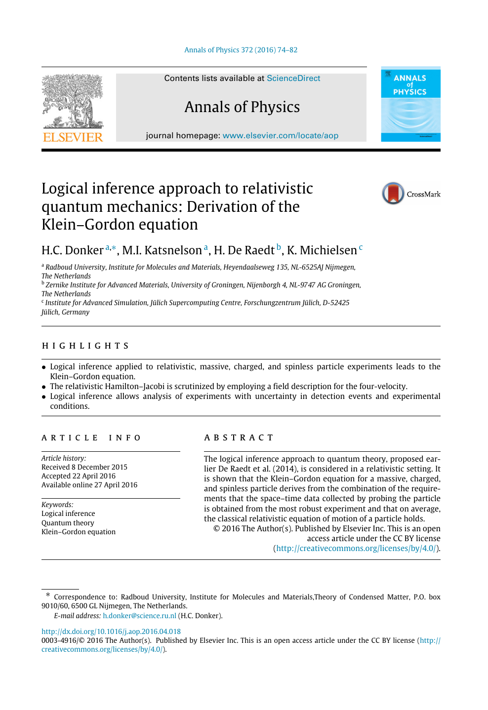 Logical inference approach to relativistic quantum mechanics