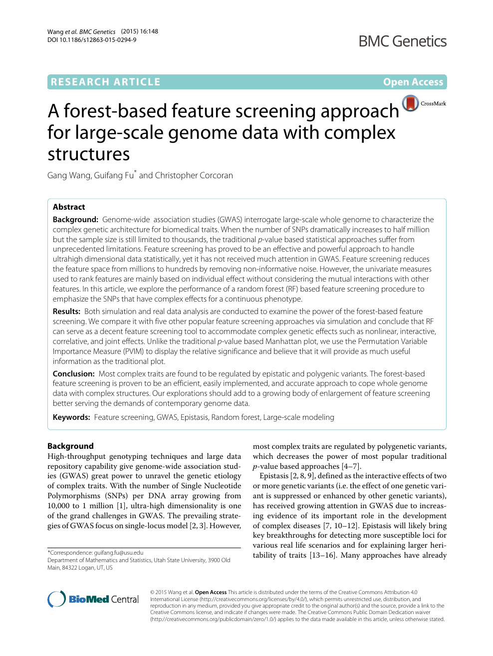 A forest-based feature screening approach for large-scale