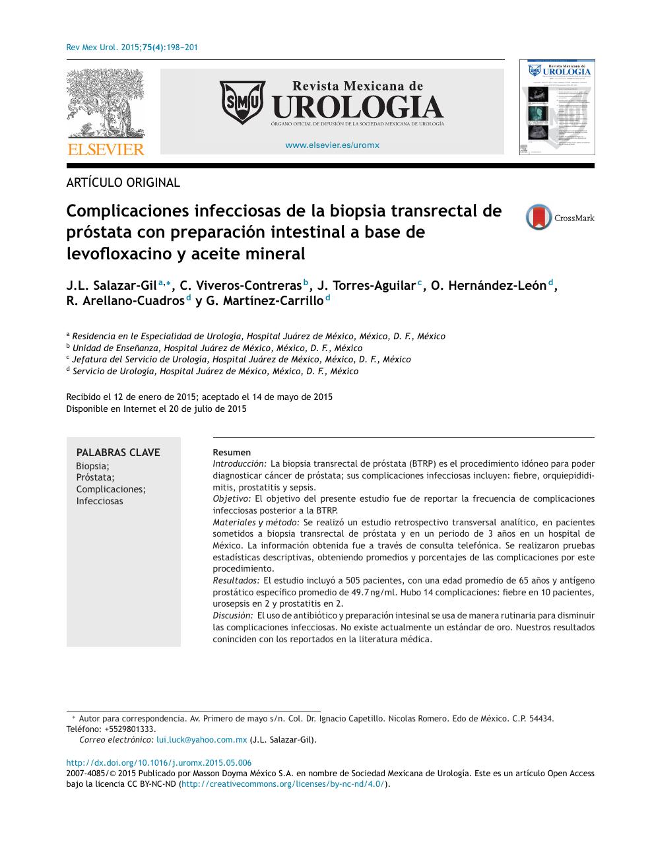 próstata después de biopsia con 20 prelievis