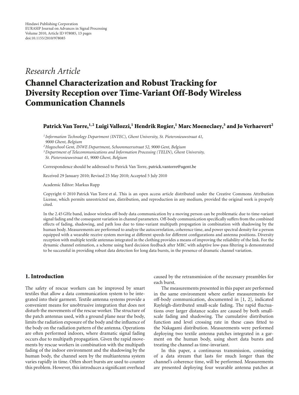 research papers on wireless communication