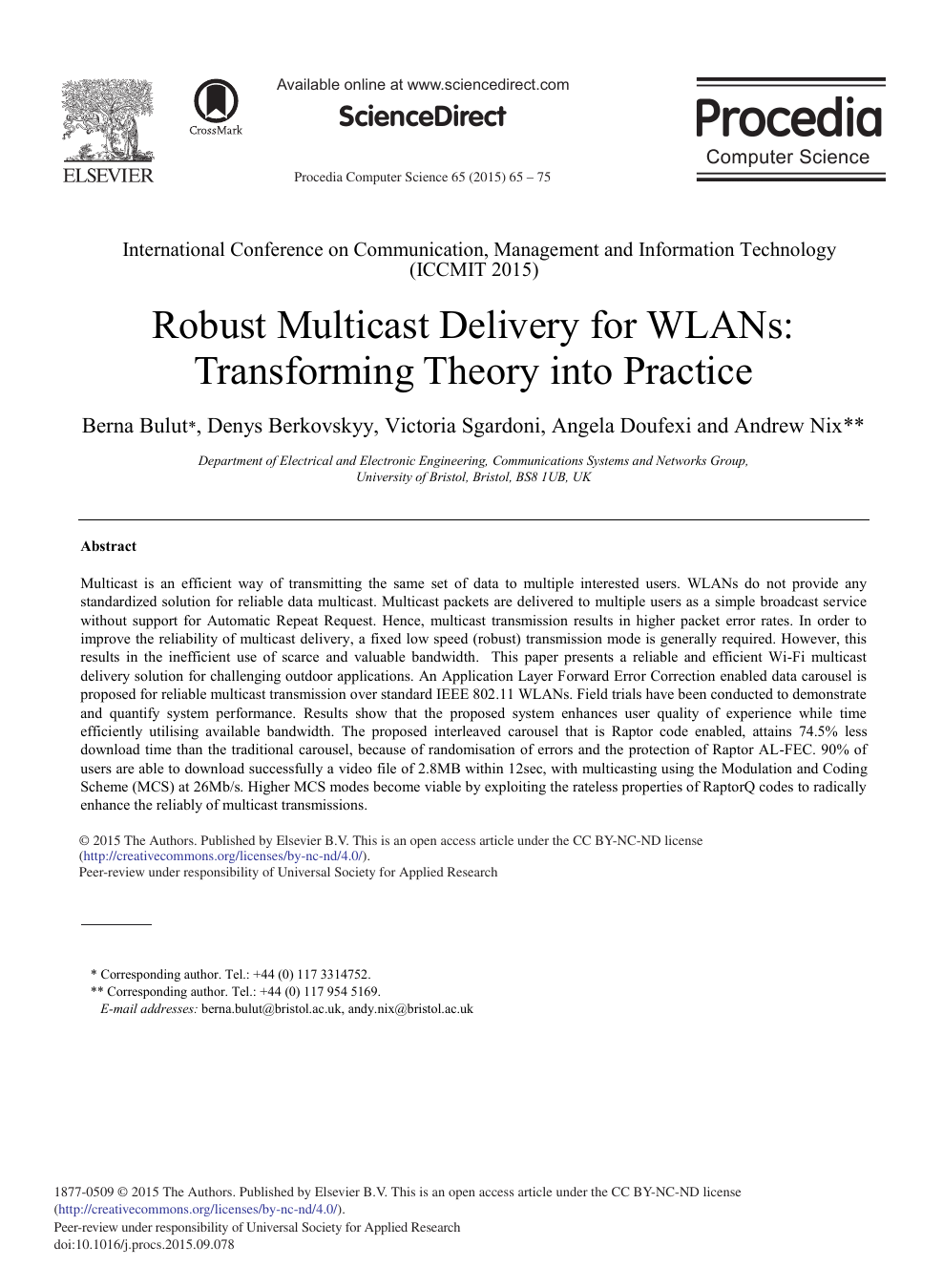 Robust Multicast Delivery for WLANs: Transforming Theory