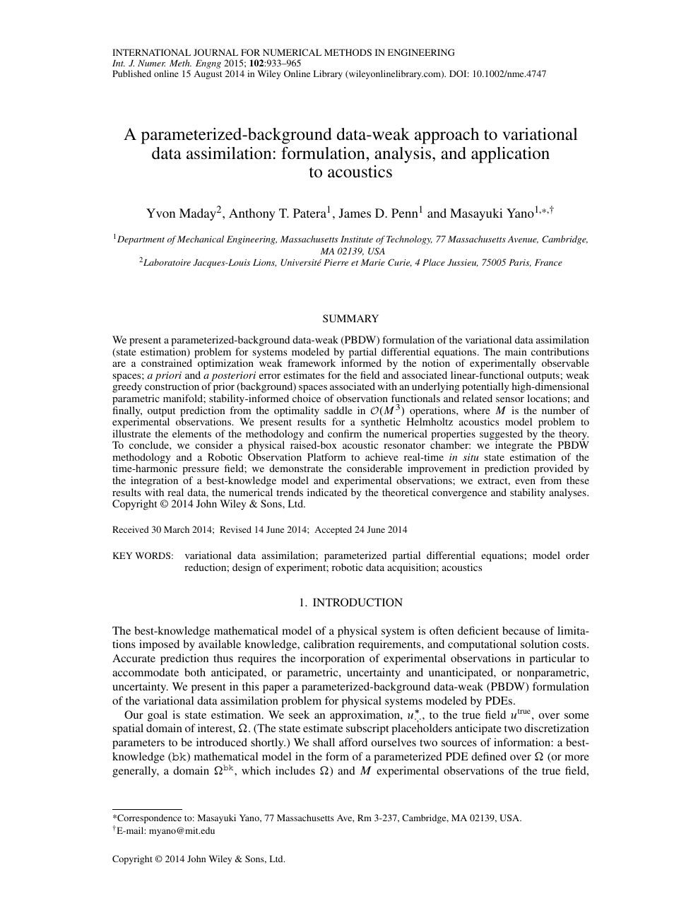 A parameterized-background data-weak approach to variational data