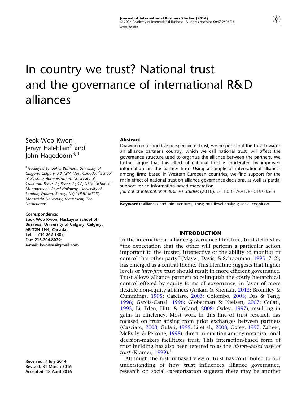 In country we trust? National trust and the governance of