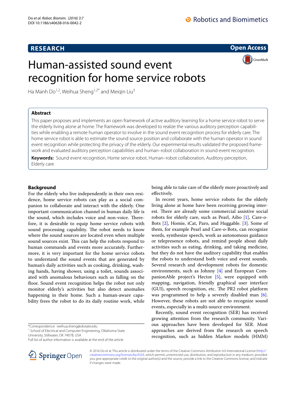 Human-assisted sound event recognition for home service