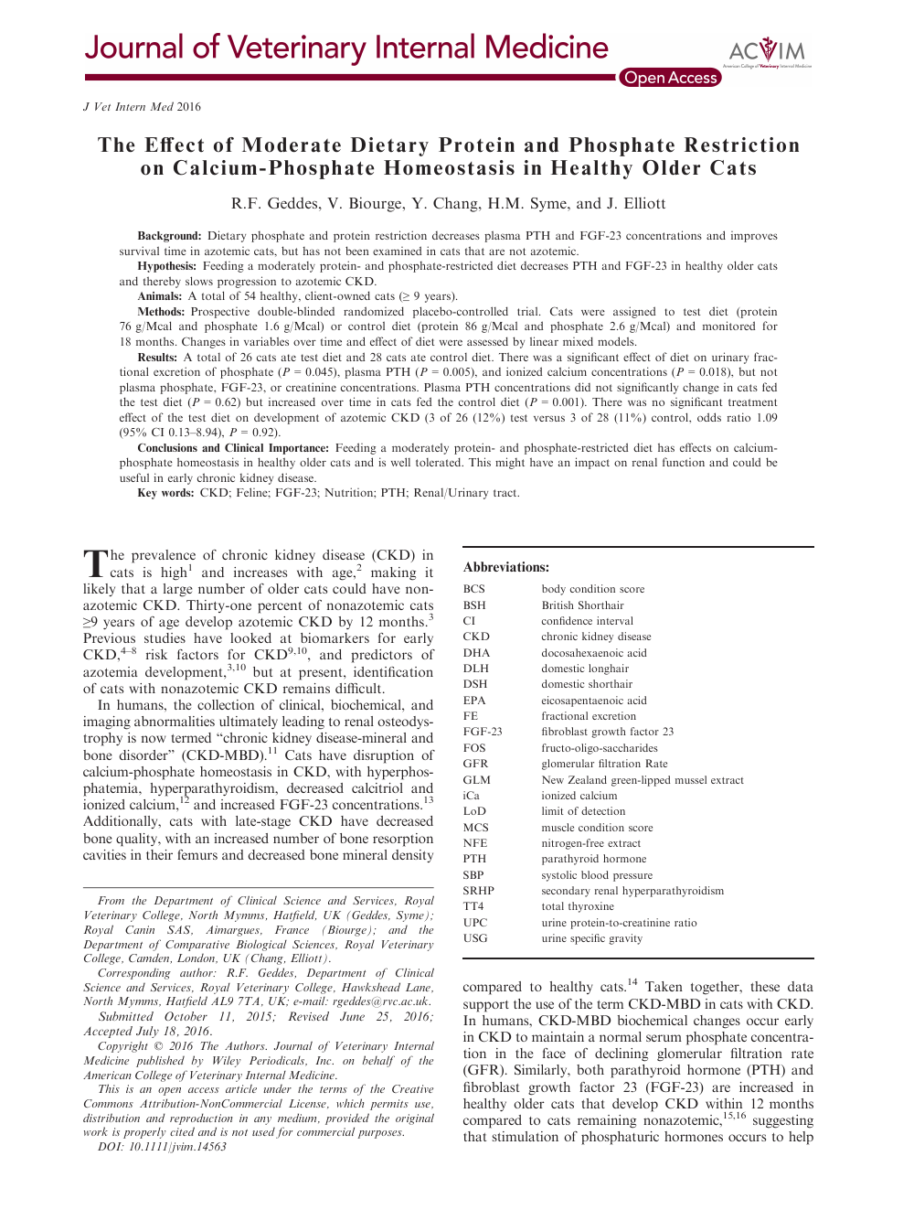 The Effect of Moderate Dietary Protein and Phosphate