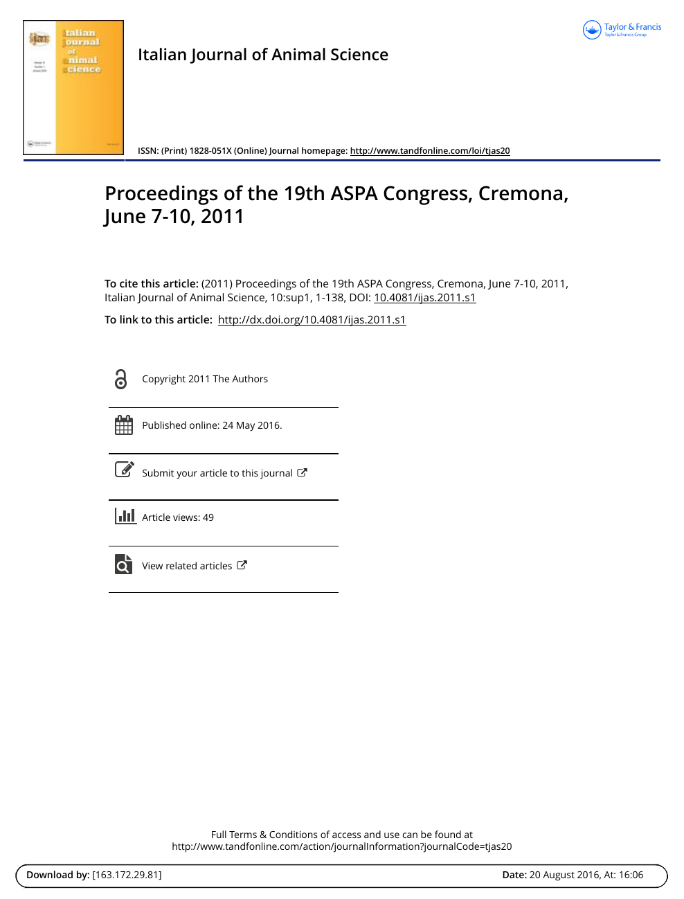 c75c0f29dc32 Proceedings of the 19th ASPA Congress, Cremona, June 7-10, 2011 ...