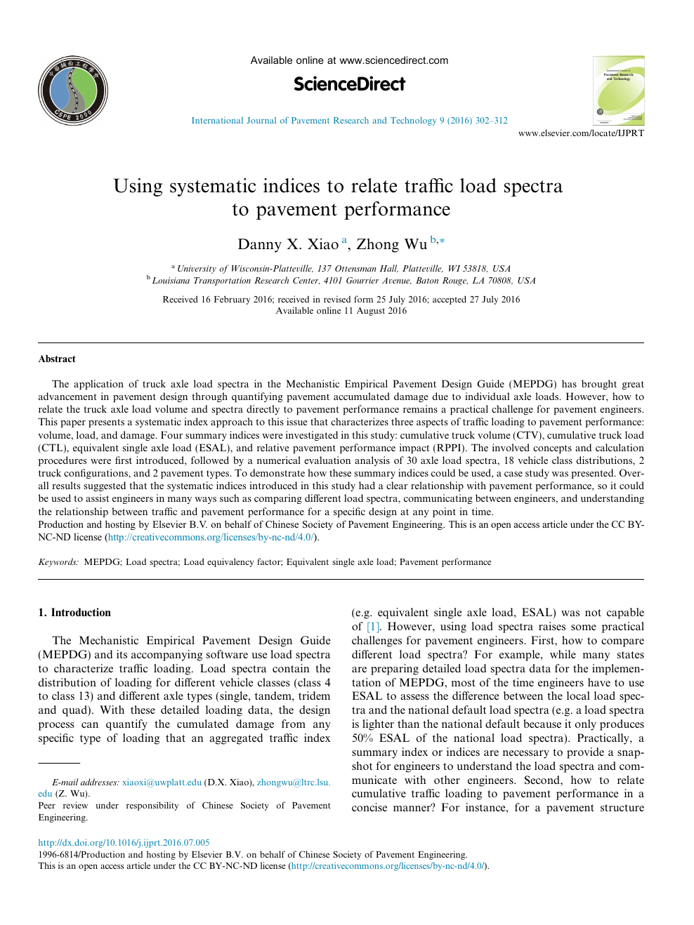 Using Systematic Indices To Relate Traffic Load Spectra To Pavement Performance Topic Of Research Paper In Civil Engineering Download Scholarly Article Pdf And Read For Free On Cyberleninka Open Science Hub