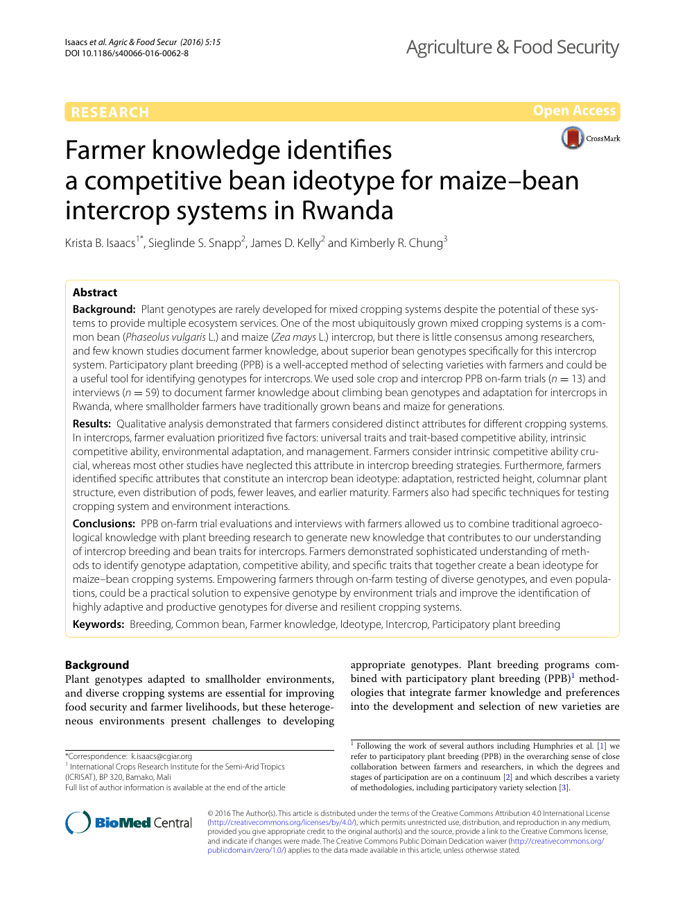 Farmer knowledge identifies a competitive bean ideotype for maize
