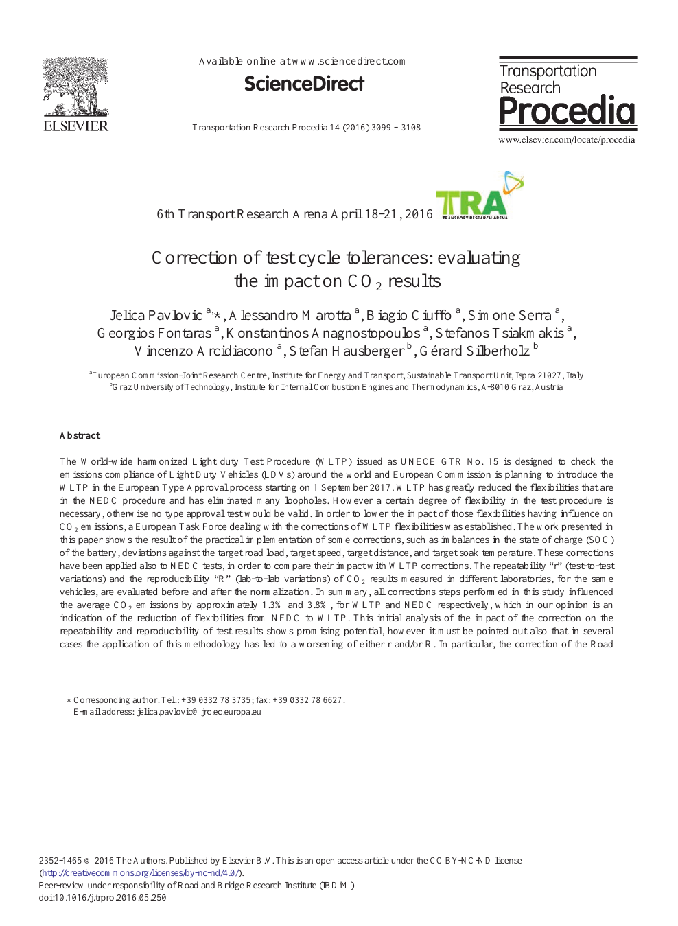 Correction of Test Cycle Tolerances: Evaluating the Impact on CO2