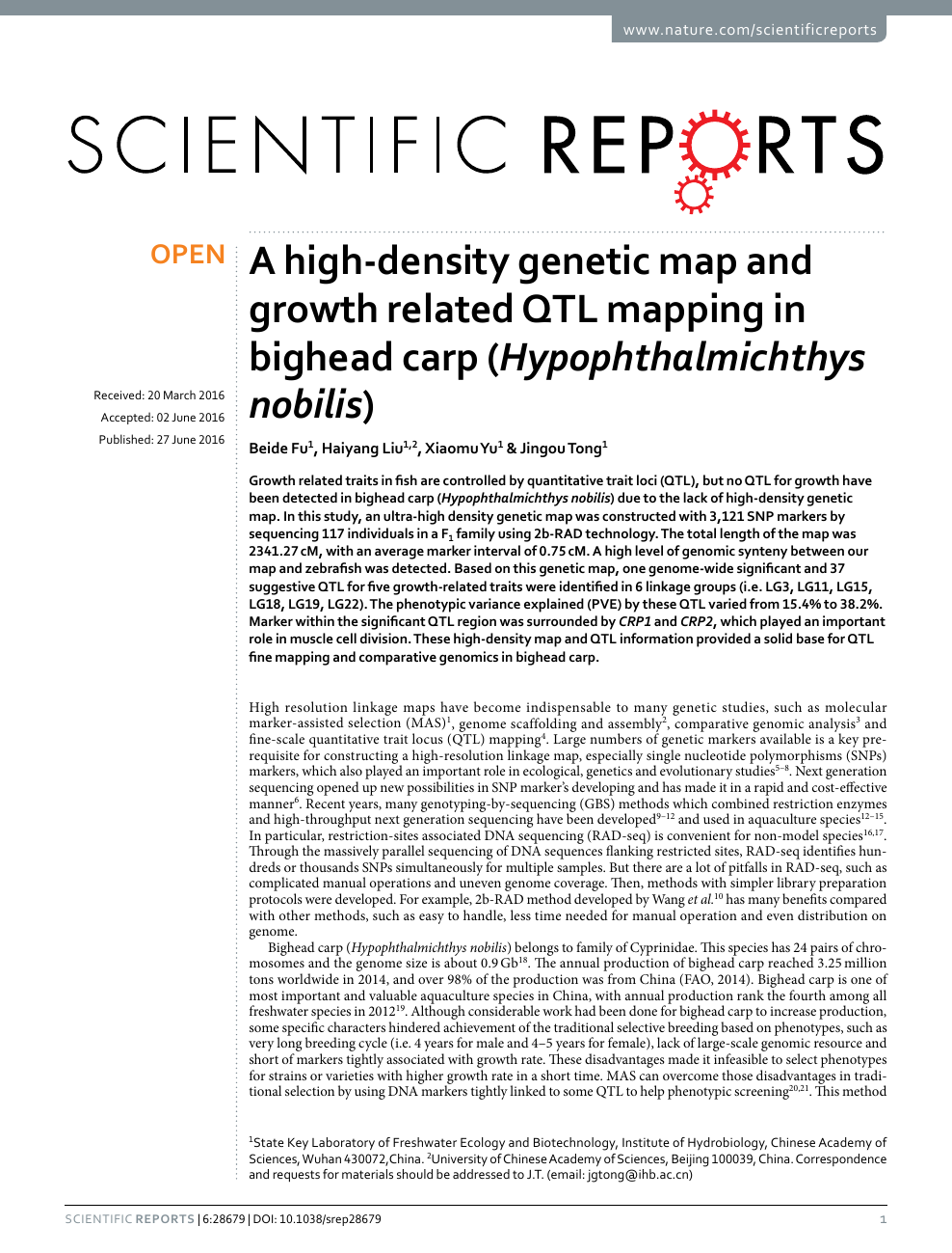 A high-density genetic map and growth related QTL mapping in ... on marker assisted selection, gene mapping, copy-number variation, test cross, quantitative genetics, genetic linkage, dihybrid cross,
