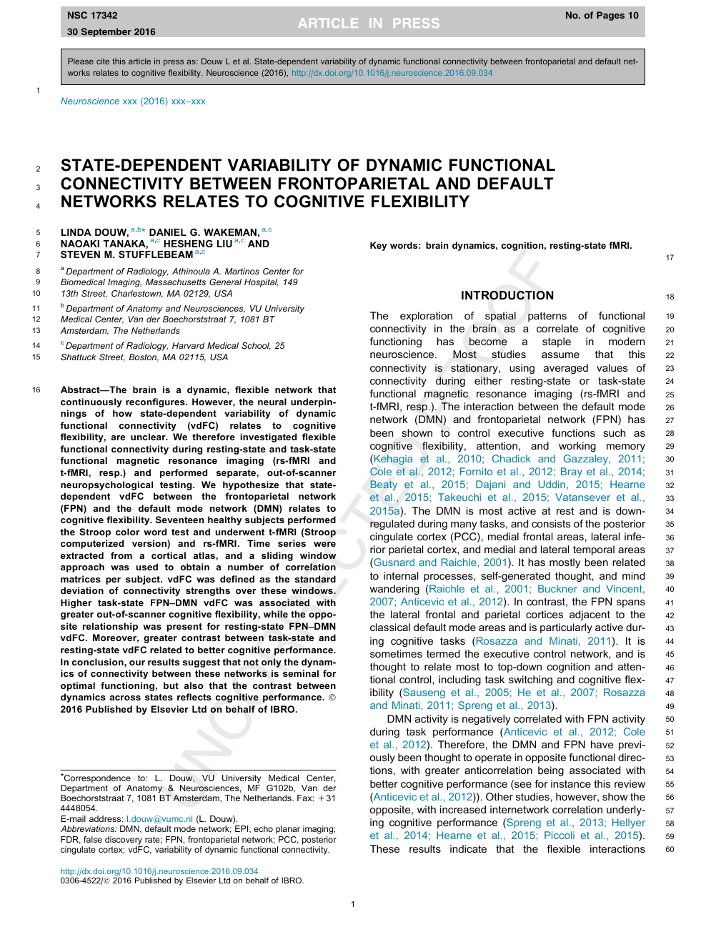 State-dependent variability of dynamic functional