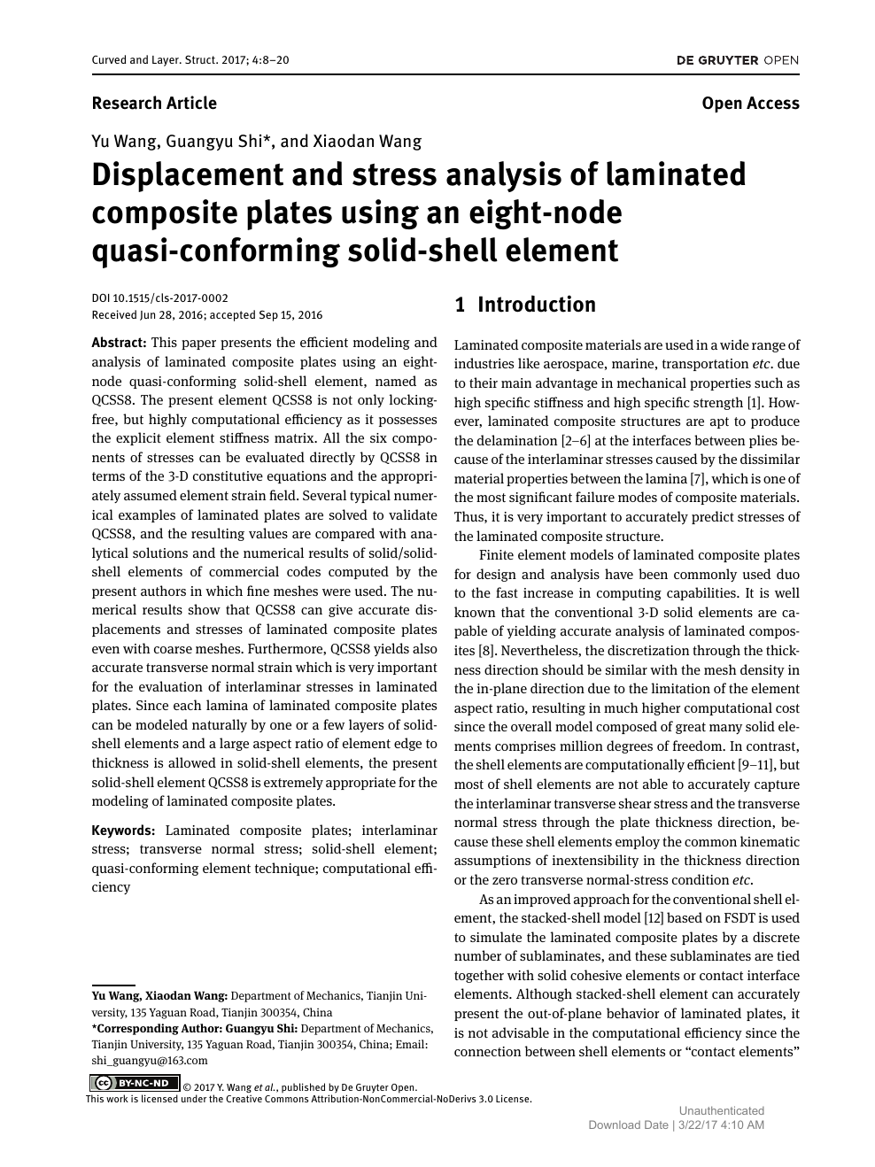 Displacement and stress analysis of laminated composite plates using