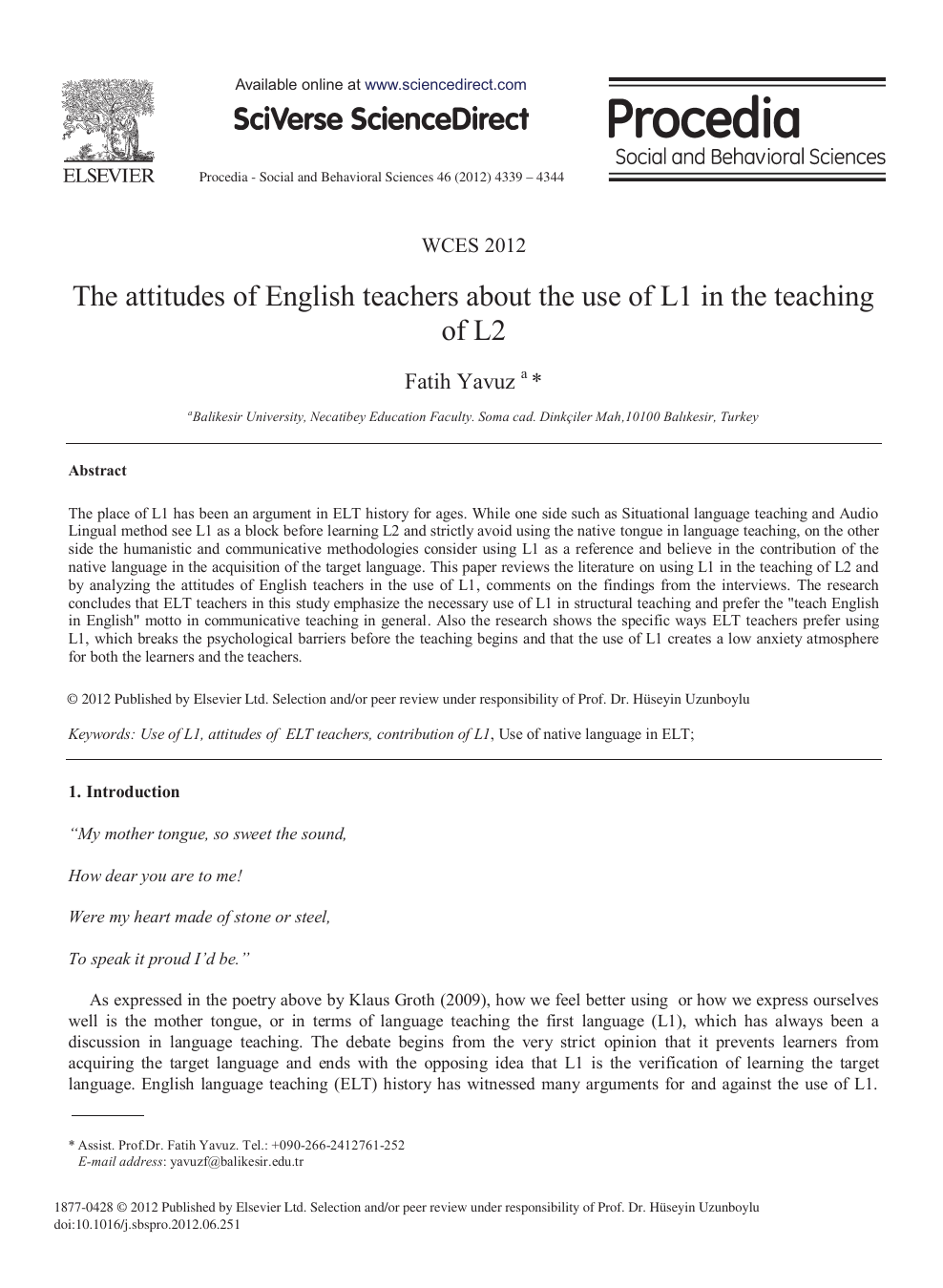 mother tongue research paper