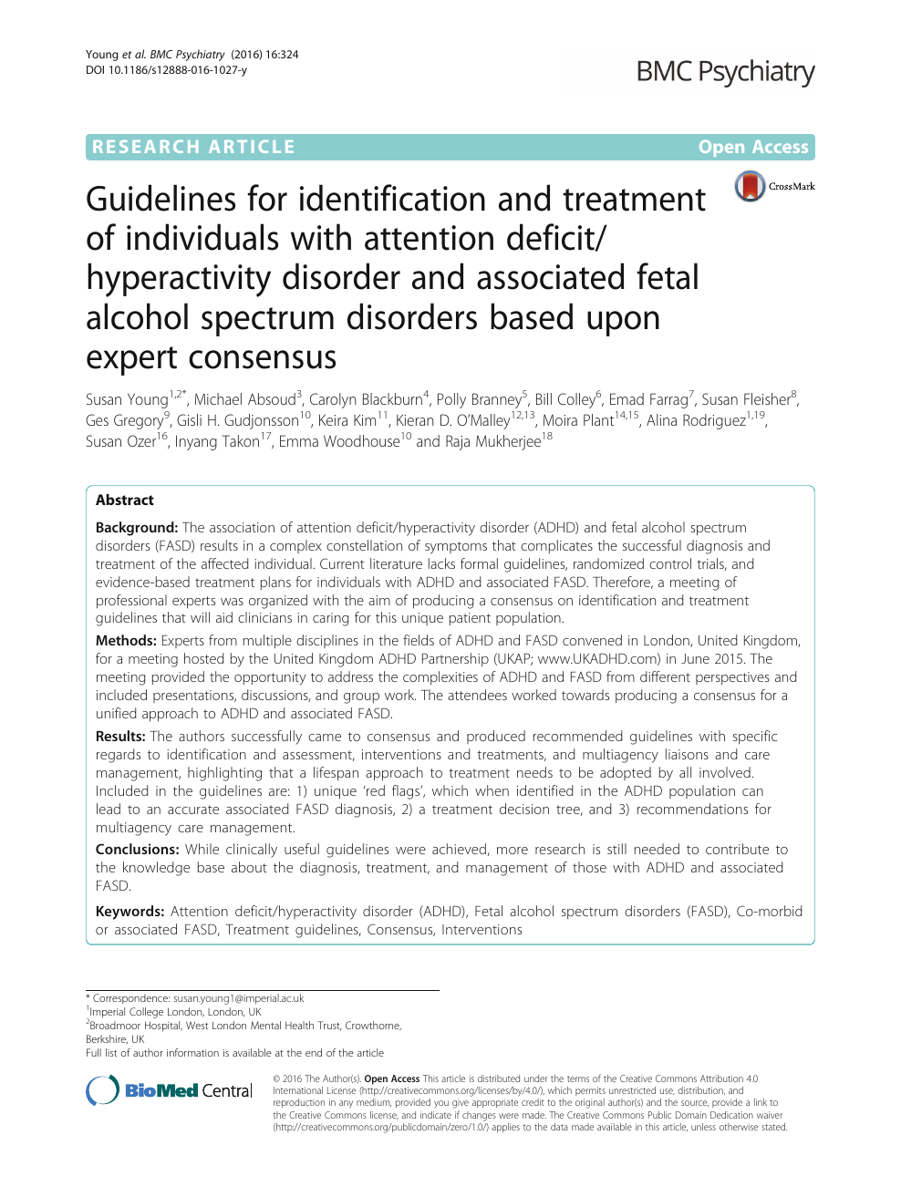 Guidelines for identification and treatment of individuals