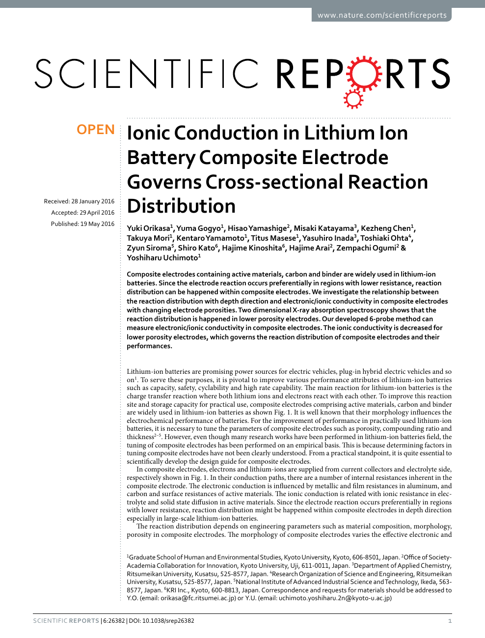 Ionic Conduction in Lithium Ion Battery Composite Electrode