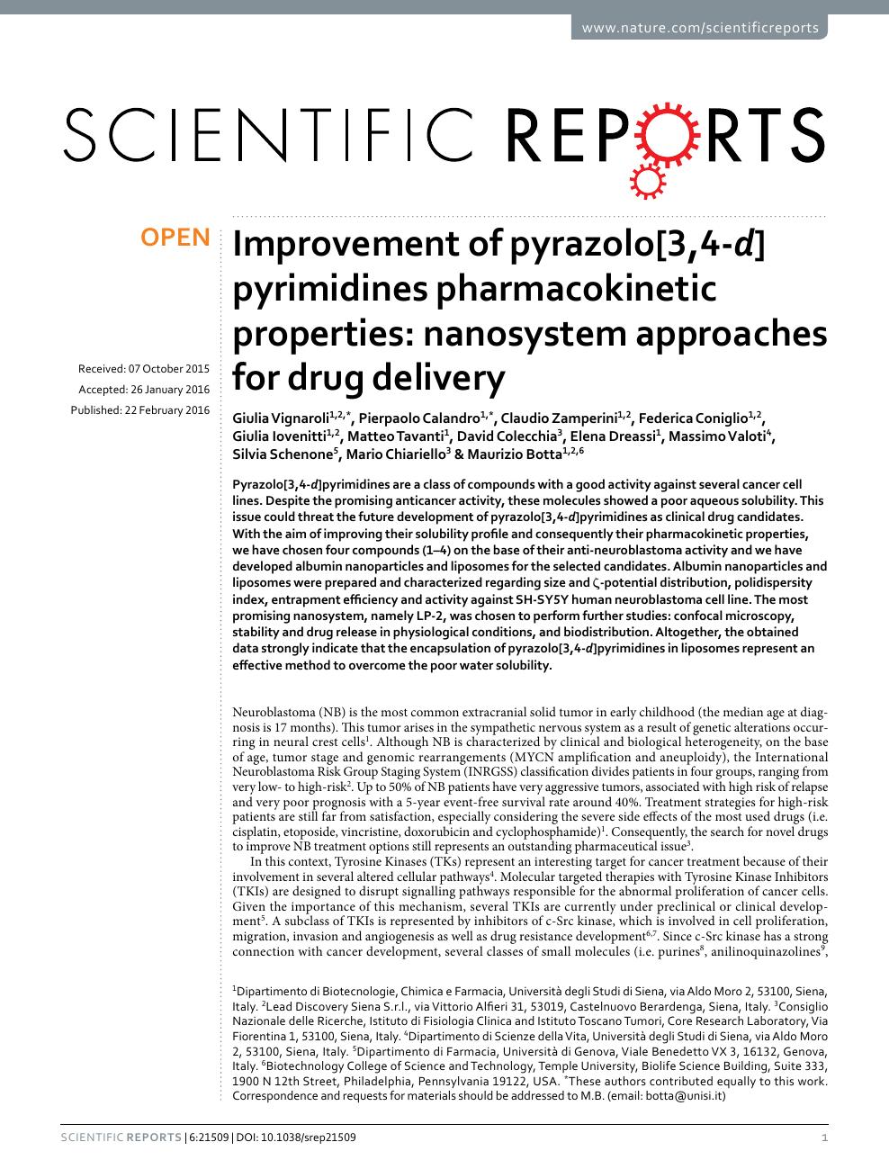 Improvement of pyrazolo[3,4-d]pyrimidines pharmacokinetic properties
