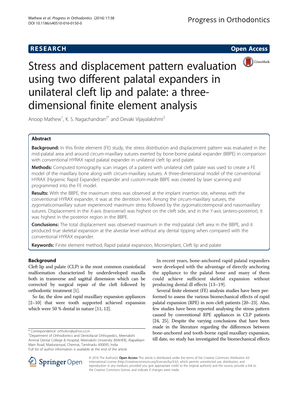 Stress and displacement pattern evaluation using two