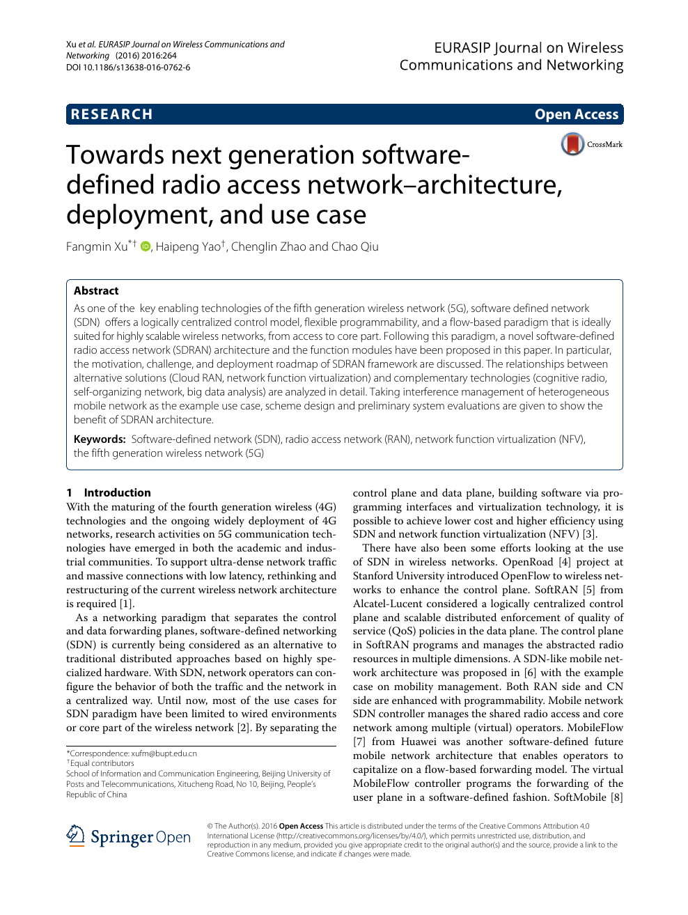 Towards next generation software-defined radio access
