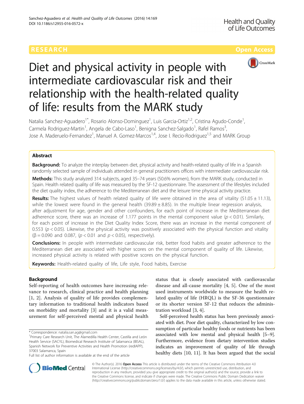 Diet and physical activity in people with intermediate
