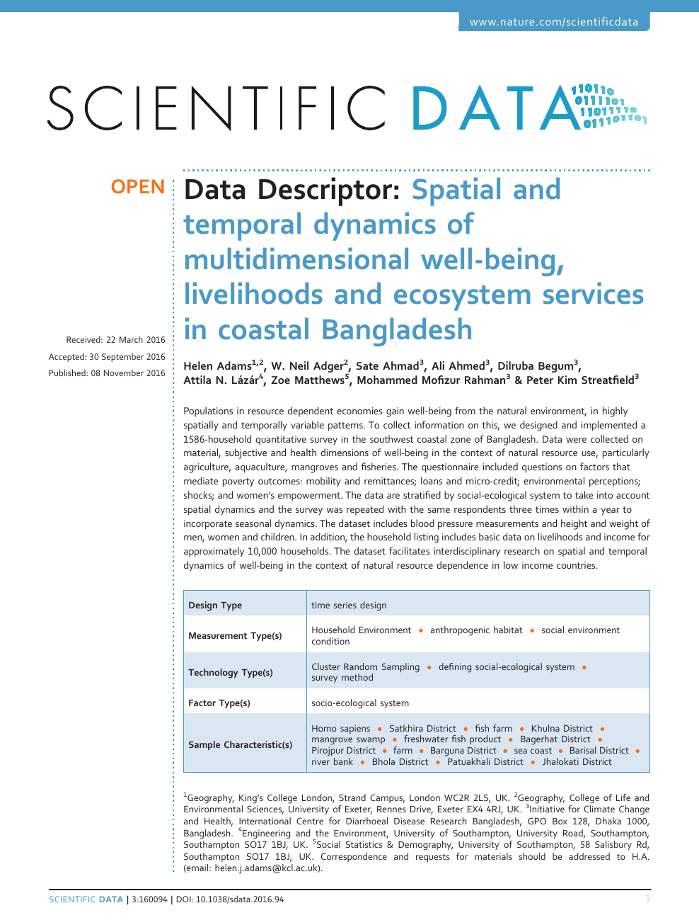 Spatial and temporal dynamics of multidimensional well-being