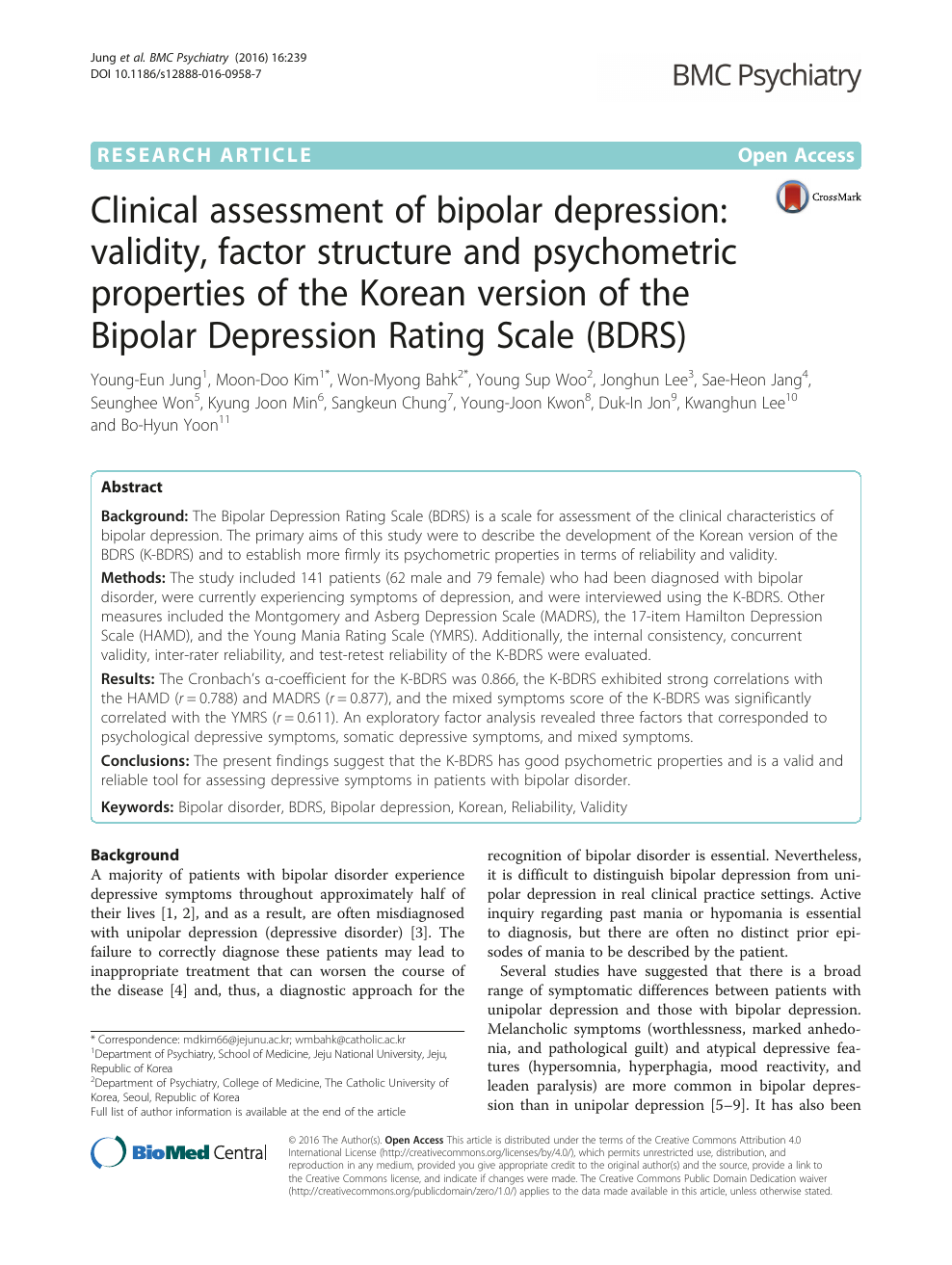 research paper on bipolar disorder