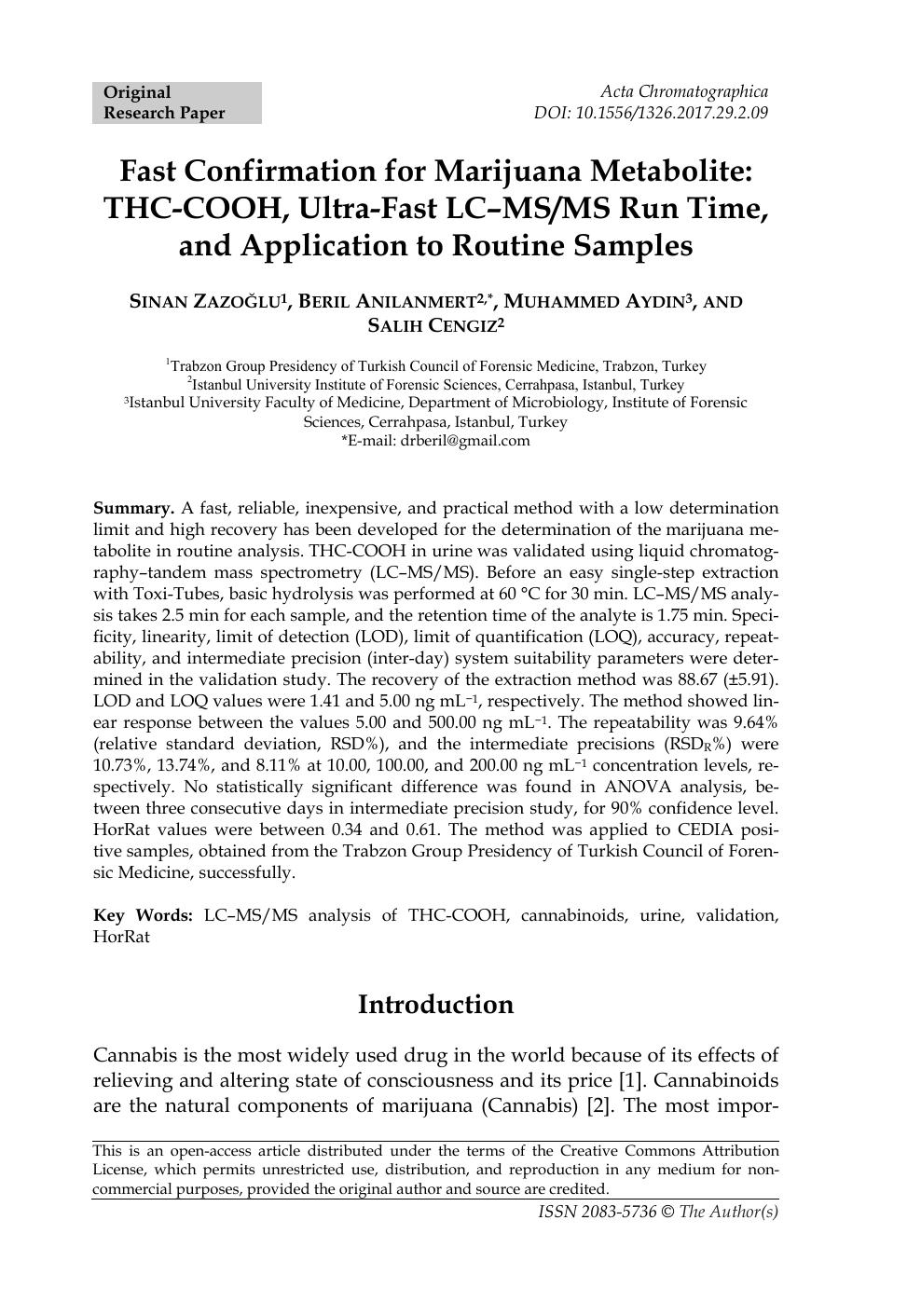 Forensic science drug research paper marijuana