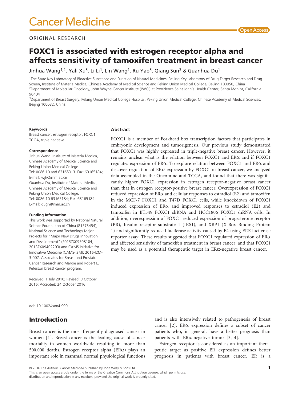 Research paper of breast cancer