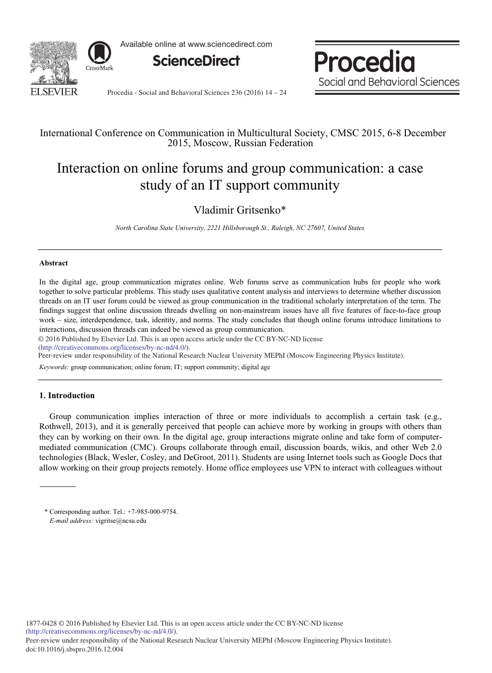 f4ccc1676d23 Interaction on Online Forums and Group Communication  A Case Study ...