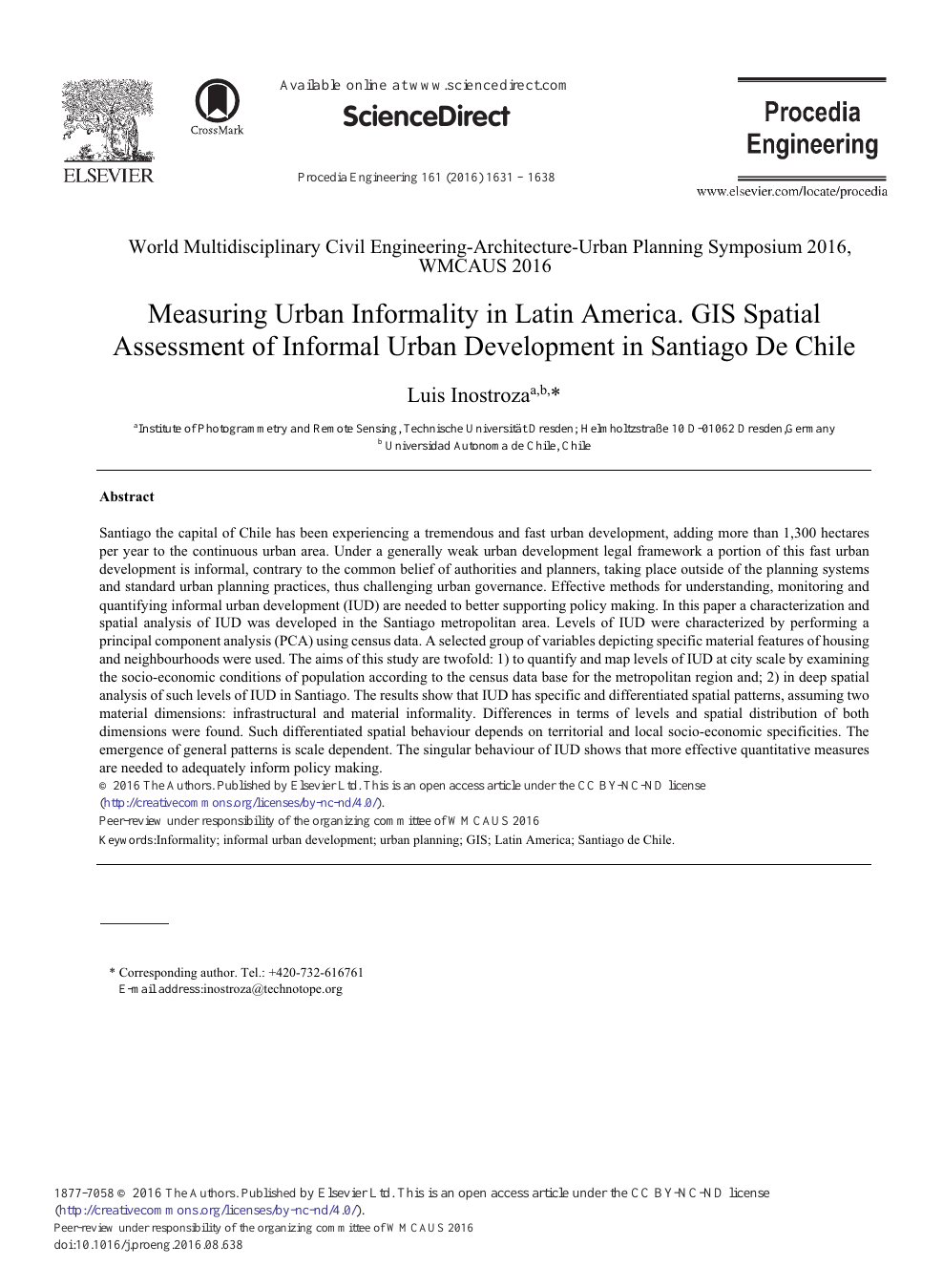 Measuring Urban Informality in Latin America  GIS Spatial