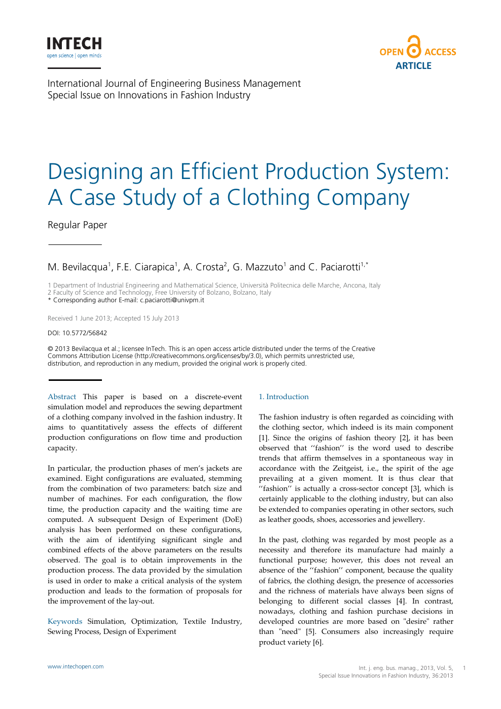 Designing An Efficient Production System A Case Study Of A Clothing Company Topic Of Research Paper In Chemical Engineering Download Scholarly Article Pdf And Read For Free On Cyberleninka Open Science