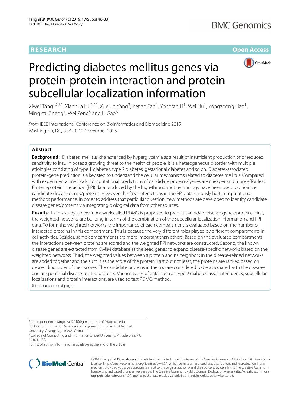 wei tang diabetes mellitus