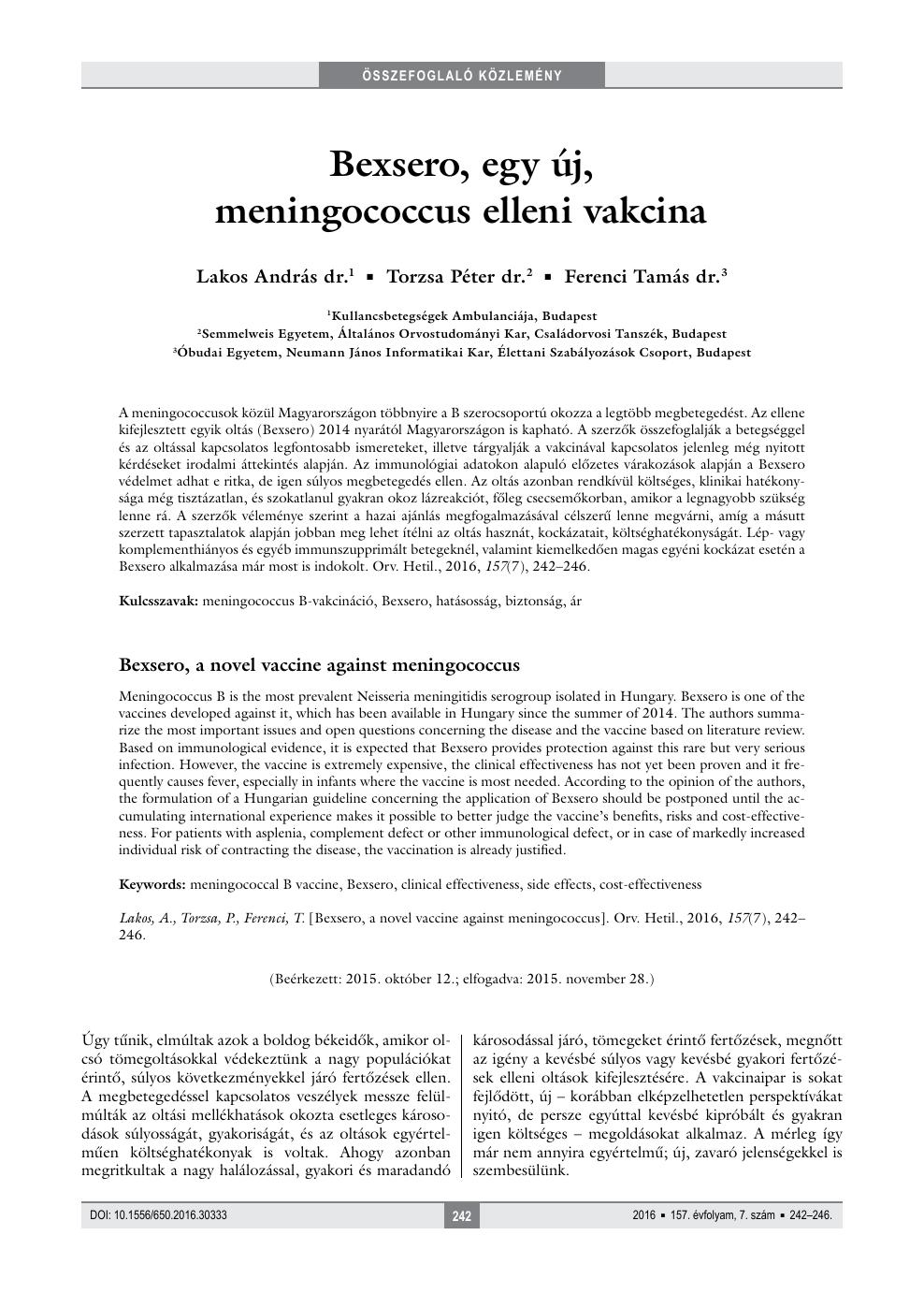 a humán papillomavírus elleni vakcina menetrendje)