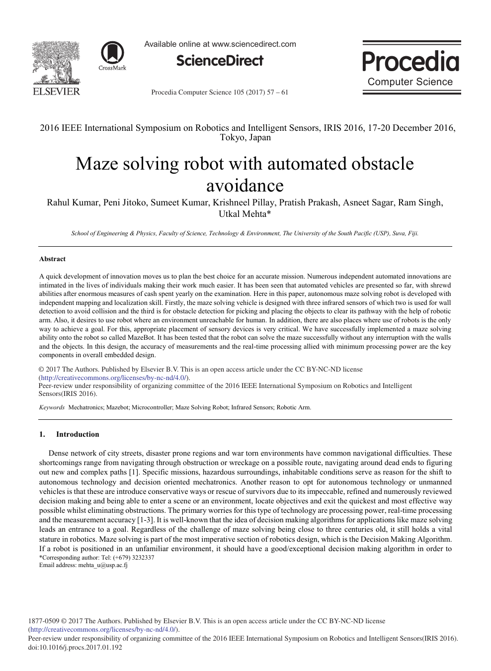 Maze Solving Robot with Automated Obstacle Avoidance – topic